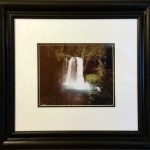Matted and Framed Koosah falls Picture
