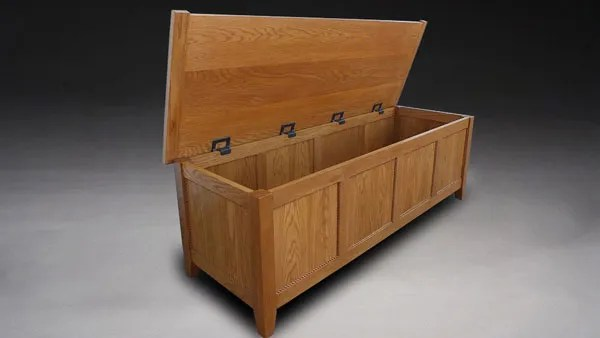 Soft close hinges for chests and toy boxes