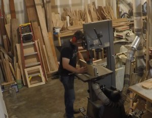 re-sawing lumber to get a book matched panel