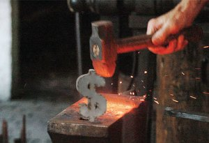 forged dollar sign
