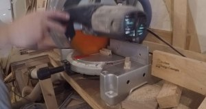 key cutting at a miter saw
