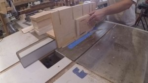 shop made raised panel jig for table saw to bevel