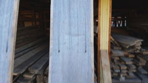 Barnwood with Stained nail holes