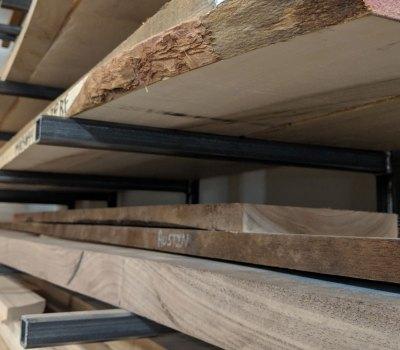 Welded steel lumber rack