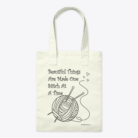Sewing and Knitting quotes on tote bags