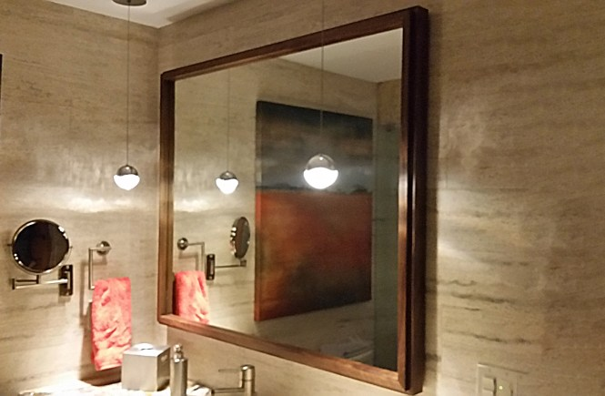 Custom Made Floating Mirror Frame