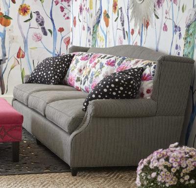 Barrington Sofa, Tily Chair, Del Ray ottoman