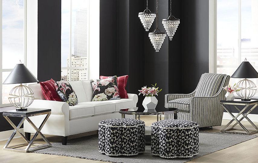 Copley Square Sofa, Kate Ottomans, Stephanie Swivel Chair