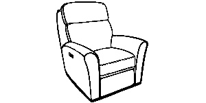 418 Motorized Headrest Recliner