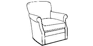 536 Swivel Glider Chair