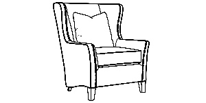 825 Wingback Chair