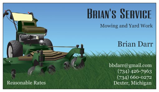 Brians Service Business Card Front img