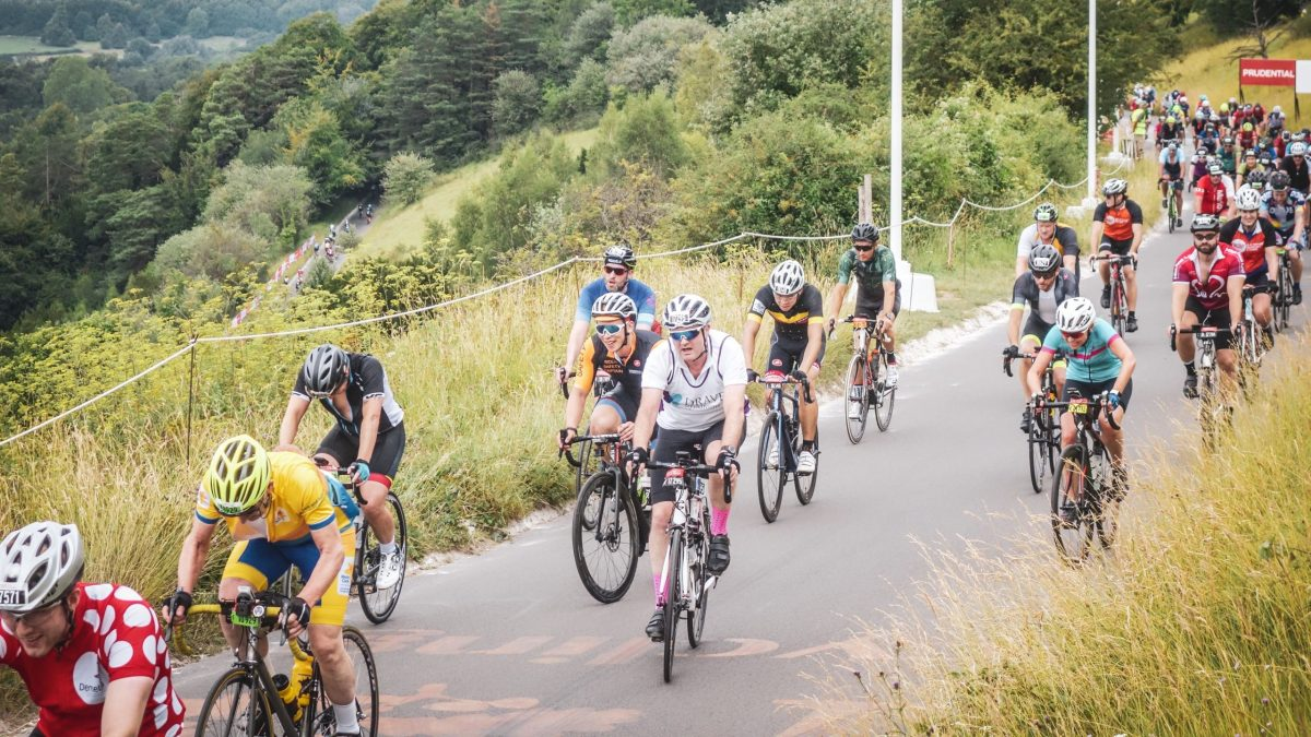 Climbing Box Hill in the 2019 Prudential RideLondon 100