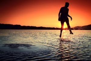 the power of positive thinking gives person ability to walk on water