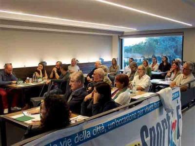 Tanti rappresentati del mondo sportivo erbese alla presentazione presso il Black Forest di Erba