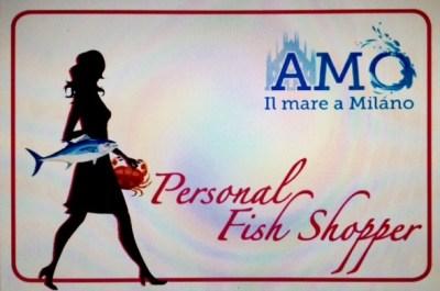 Il biglietto da visita della personal Fish Shopper, nato da un'idea di Giuseppe Palma, uno dei primi cliente della spesa a domicilio