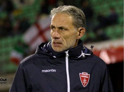 Marco Zaffaroni, mister biancorosso alle prese con un'involuzione della sua squadra