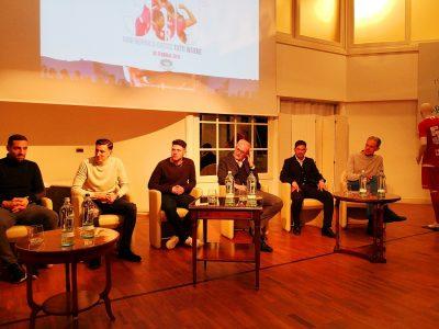 Allo Sporting Club di Monza l'evento Monza 360° per presentare i nuovi arrivati nella rosa biancorossa e i nuovi sponsor. Da sinistra: