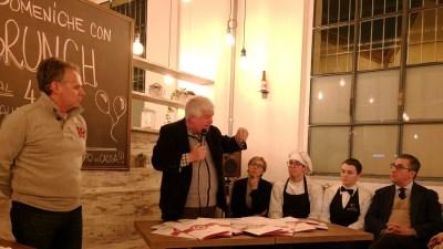 Presentazione di BirraGaia, nuovo realtà del Food District nell'area ex Formenti di Carate Brianza. Al microfono Emiliano Ronzoni, speaker della serata d'inaugurazione