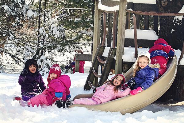 winter outdoor play