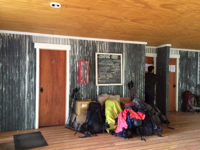 Cooking hut and camper bathrooms at Campemento Grey