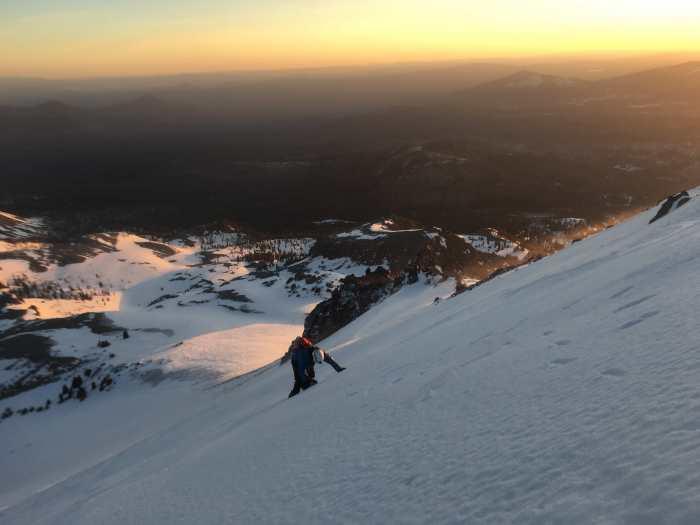 Down climbing Lassen