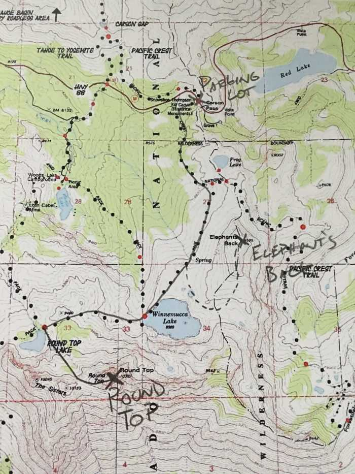 Map to Round Top