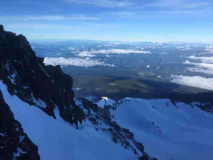 Parting ways at 11,700 ft on Casaval Ridge