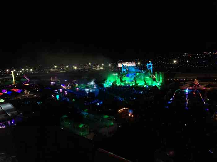 View of Wasteland stage from the Ferris Wheel