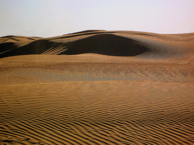 The Empty Quarter which Alistair traversed by foot. Photo by IrenicRhonda
