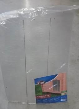 tendina trasparente per cuccia del cane