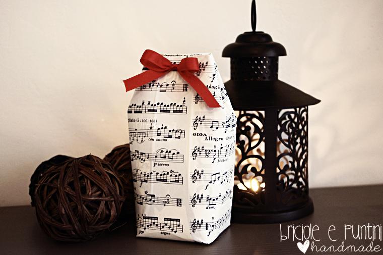 riciclo creativo: scatole da regalo con i tetrapak riciclati