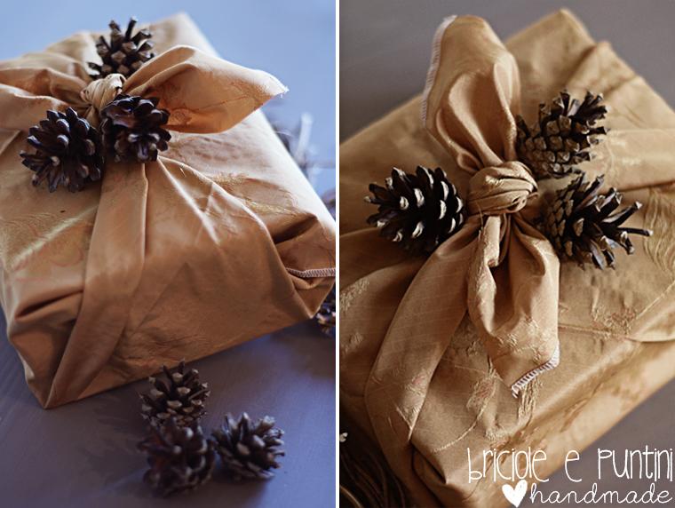 incartare i regali di Natale con la tecnica del furoshiki
