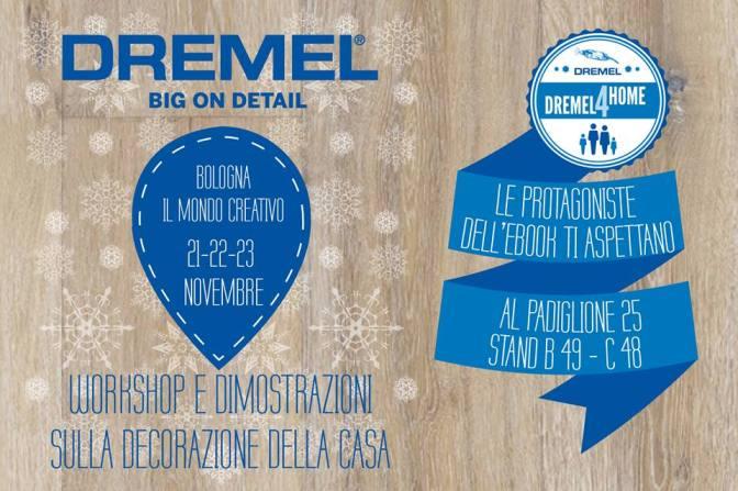 workshop gratuito Mondo Creativo Bologna - stand Dremel