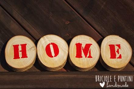scritta Home in legno fai da te