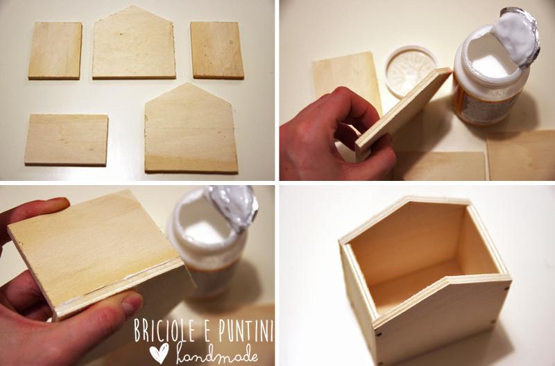 tutorial casetta in legno per Pasqua