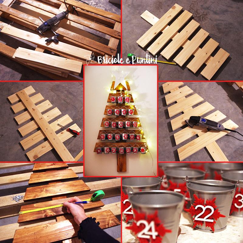 calendario dell'Avvento in legno - tutorial
