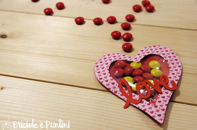 cuore porta confetti per San Valentino