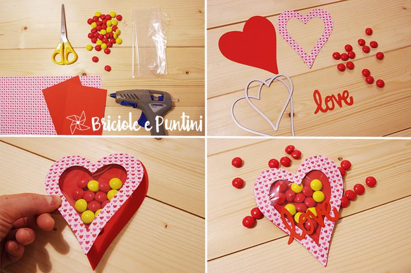 tutorial cuore porta confetti di San Valentino