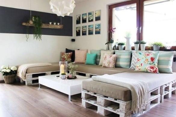 riciclo creativo dei pallet - divano