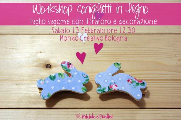 workshop coniglietti in legno Mondo Creativo Bologna