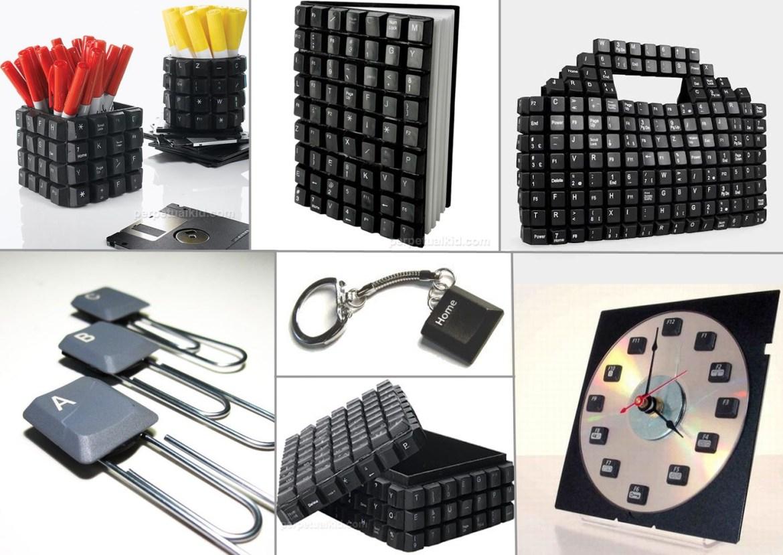 idee regalo festa del papà: riciclo creativo tastiere del computer