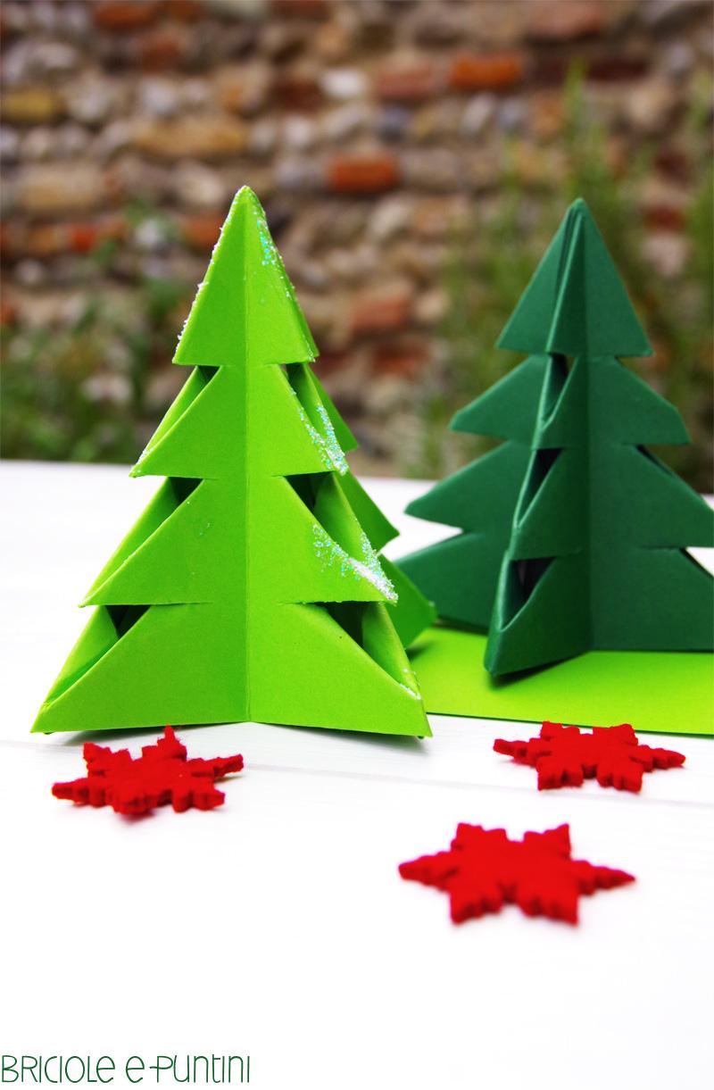 Albero Di Natale Origami.Origami Di Natale Stella E Albero Briciole E Puntini