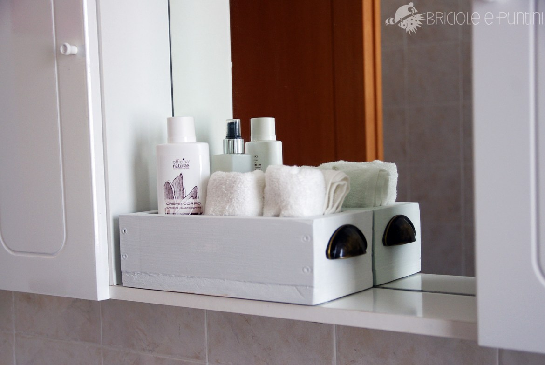 cassetta in legno fai da te - portalavette bagno