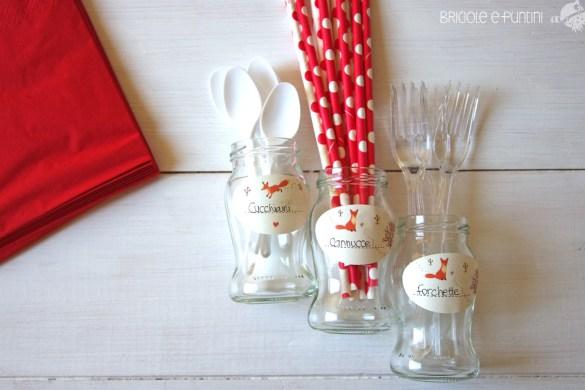 kit picnic riciclo creativo vasetti di vetro
