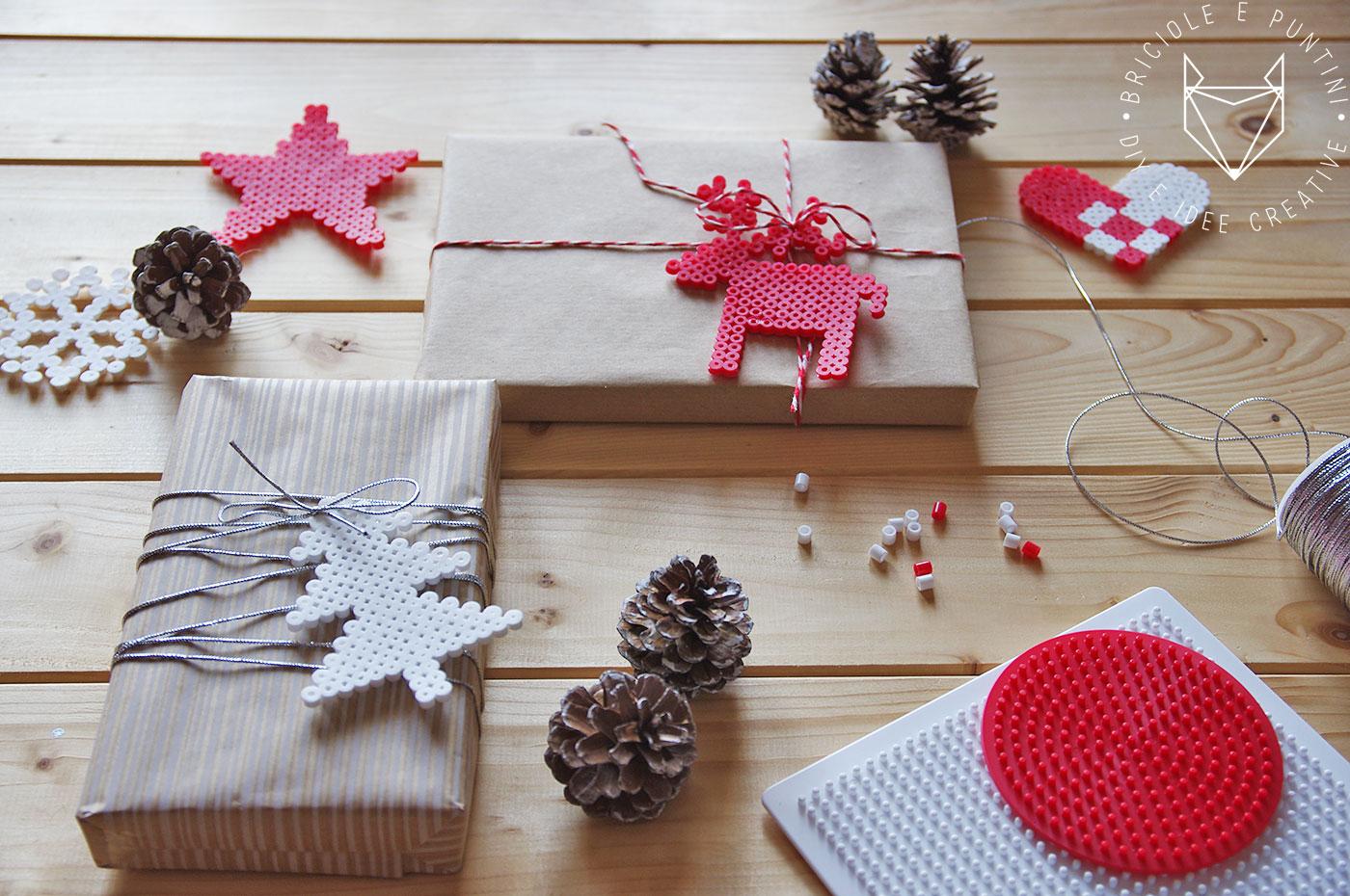 Addobbi natalizi con le hama beads ikea pyssla briciole for Perline legno ikea