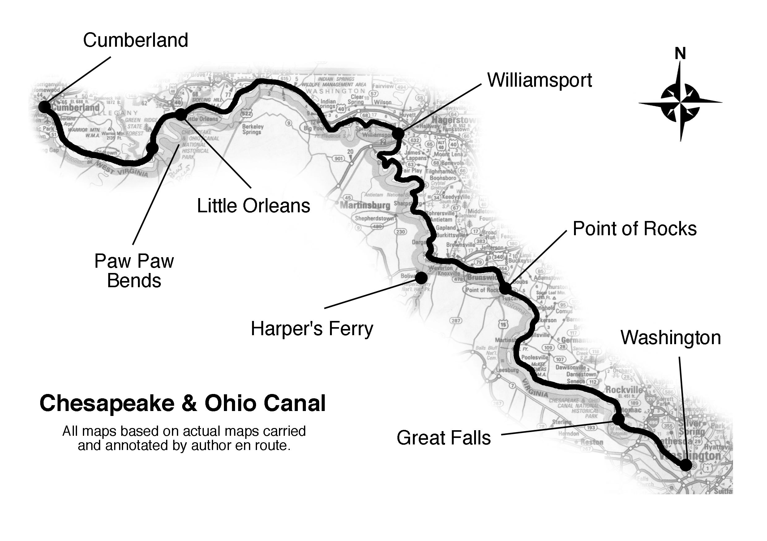 Maps Of Gold Rush Route