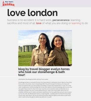 """Day Tours London """"Love London"""" Section Sep 2015"""