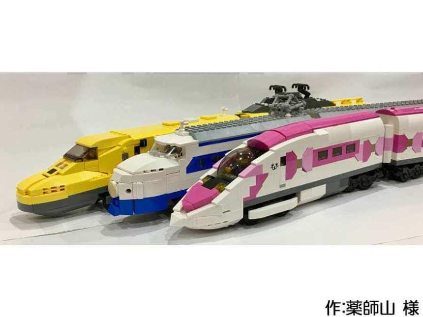 新幹線0系、500系(ハローキティ新幹線)、923形(ドクターイエロー)の3編成のトレイン作品。