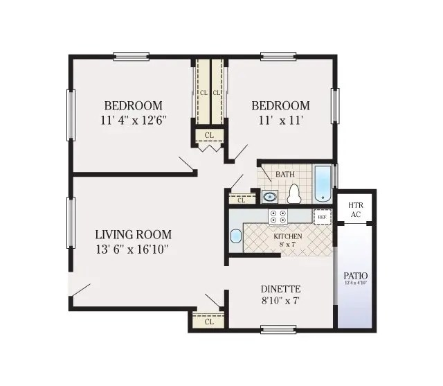Floor Plans Brick Gardens Apartments